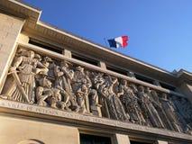 Parede da casa de cidade de Puteaux Imagens de Stock