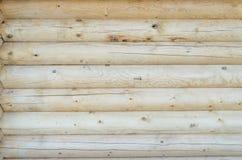 A parede da casa de madeira Foto de Stock