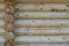A parede da casa de madeira Fotografia de Stock