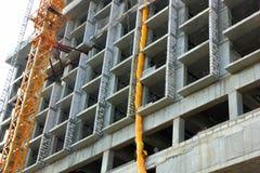 Parede da casa sob a construção Imagens de Stock