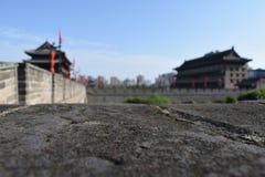 Parede da cidade antiga e porta Xi do `, China Foto de Stock