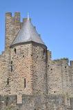 Parede da cidade de Carcassonne Fotografia de Stock Royalty Free
