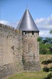 Parede da cidade de Carcassonne Imagens de Stock Royalty Free