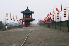 Parede da cidade de China Xian (Xi'an) Imagens de Stock Royalty Free