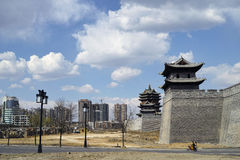 Parede da cidade de Datong Fotografia de Stock Royalty Free
