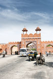Parede da cidade de Jaipur, a cidade cor-de-rosa Imagens de Stock Royalty Free