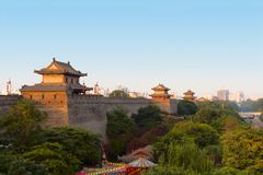 Parede da cidade de Xi'an Imagens de Stock