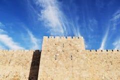 Parede da cidade do Jerusalém Fotografia de Stock Royalty Free