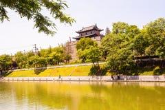 parede da cidade em Xian imagens de stock