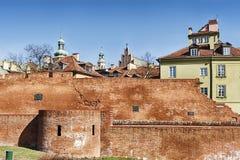 Parede da cidade velha de Varsóvia fotografia de stock royalty free