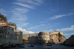 Parede da cidade, cidade velha e planos em Dubrovnik, Croácia Fotografia de Stock