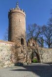 Parede da cidade, Weir, Neubrandenburg Fotografia de Stock
