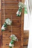 Parede da decoração do casamento Imagens de Stock