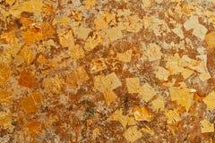 Parede da folha de ouro. Foto de Stock Royalty Free