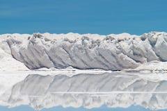 Parede da formação de sal fotografia de stock