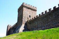 A parede da fortaleza antiga Imagens de Stock Royalty Free