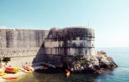 Parede da fortaleza de Dubrovnik Imagens de Stock Royalty Free