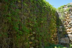 Parede da fortaleza de Histria fundada pelos colonos gregos 656 BC Fotografia de Stock