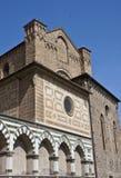 Parede da igreja católica em Florença fotos de stock