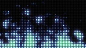 A parede da luz simula uma chama ardente vídeos de arquivo