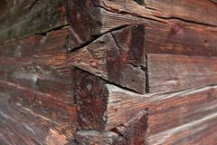 Parede da madeira velha Imagem de Stock Royalty Free