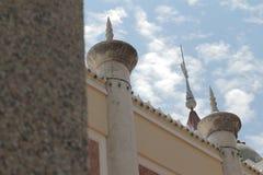 Parede da mesquita a mais bonita de Masjid no céu e em nuvens islâmicos bonitos do projeto da arte de Tailândia Imagem de Stock Royalty Free