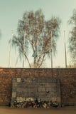 A parede da morte, campo de concentração de Auschwitz-Birkenau, Polônia Fotografia de Stock Royalty Free