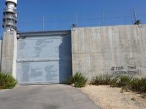 Parede da ocupação com porta Foto de Stock