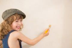 Parede da pintura da criança Imagem de Stock