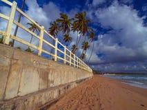 Parede da praia Fotografia de Stock