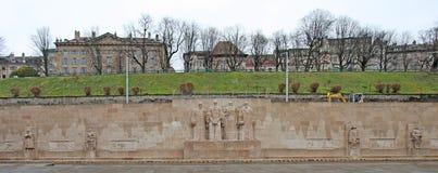 Parede da reforma em Genebra, Suíça imagens de stock