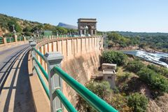 Parede da represa de Hartbeespoort, África do Sul Foto de Stock Royalty Free