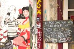 Parede da rua art imagem de stock