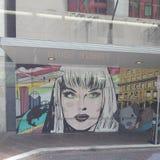 Parede da rua art foto de stock