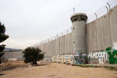 Parede da separação - Palestina imagens de stock