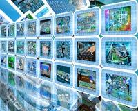 Parede da tecnologia Imagens de Stock