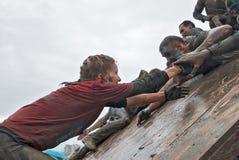 Parede da tempestade das equipes na raça do extrim Foto de Stock