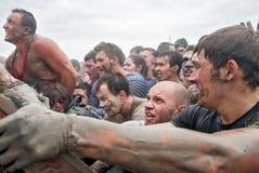 Parede da tempestade das equipes na raça do extrim Caráter de aço Fotografia de Stock Royalty Free