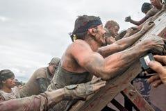 Parede da tempestade das equipes na raça do extrim Caráter de aço Foto de Stock