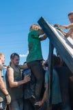 Parede da tempestade dos atletas na raça do extrim Tyumen Rússia Fotografia de Stock Royalty Free