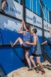 Parede da tempestade dos atletas na raça do extrim Tyumen Rússia Fotografia de Stock