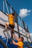 Parede da tempestade dos atletas na raça do extrim Tyumen Rússia Fotos de Stock