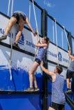 Parede da tempestade dos atletas na raça do extrim Tyumen Rússia Imagem de Stock