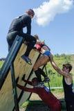 Parede da tempestade dos atletas na raça do extrim Tyumen Rússia Imagem de Stock Royalty Free