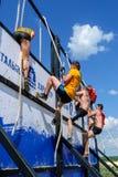 Parede da tempestade dos atletas na raça do extrim Tyumen Rússia Imagens de Stock