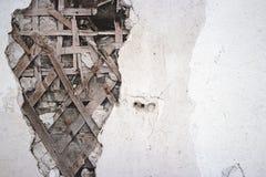 Parede danificada imagens de stock