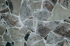 Parede das grandes pedras mantidas unidas pelo cimento fotos de stock royalty free