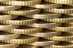 Parede das moedas, um teste padrão Imagem de Stock
