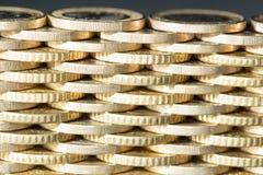 Parede das moedas, um teste padrão Fotos de Stock Royalty Free