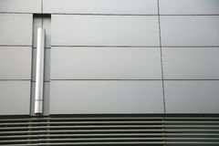 Parede de aço Fotografia de Stock
